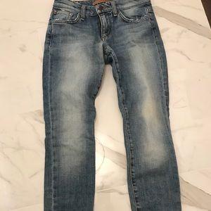 joe's jeans skinny ankle distressed jean SIZE 24